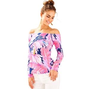 NWT LILLY PULITZER   Audelia paradise point top S